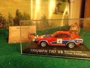 【送料無料】模型車 モデルカー スポーツカーマンラリーミニチュアカーコレクションtriumph tr7 v8 manx rally 78 pondgallagier miniature car collection 143