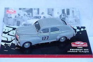 【送料無料】模型車 モデルカー スポーツカーネットワークプジョー#モンテカルロixo altaya peugeot 203 177 monte carlo 1960 143