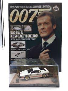 【送料無料】模型車 モデルカー スポーツカーロータスエスプリターボジェームスボンドlotus esprit turbo just for your eyes n6884 cars james bond 143