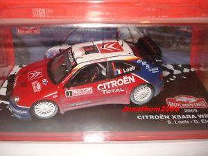 【送料無料】模型車 モデルカー スポーツカーシトロエンクサラ#モンテカルロcitroen xsara wrc 1 monte carlo 2005loebelena in 143