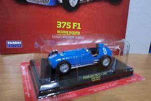 【送料無料】模型車 モデルカー スポーツカーフェラーリスクーデリアferrari f1 collectionferrari 375 f1 1952scuderia rosier with facicolo