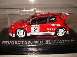 【送料無料】模型車 モデルカー スポーツカープジョー206 wrc 2143rallyeモンテcarlo 2003reidpeugeot 206 wrc 2 rallye monte carlo 2003burnsreid at 143