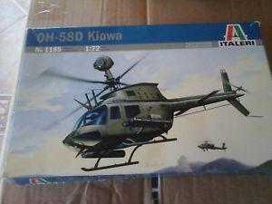 【送料無料】模型車 モデルカー スポーツカーヘリコプタースケールモデルoh58d kiowa us army helicopter 172 scale italeri model