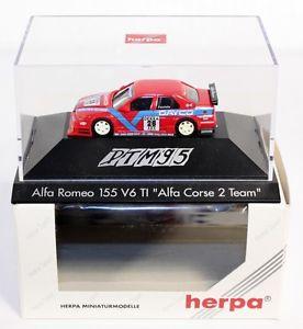 【送料無料】模型車 モデルカー スポーツカーアルファロメオアルファコルシカチーム#herpa 036559, alfa romeo 155 v6 ti 034;alfa corse 2 team034;, 187, in the oct ab15