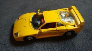 【送料無料】模型車 モデルカー スポーツカーフェラーリイエロースケールセンチセンチburago ferrari f 40 1987 yellow scale 124 length 18cm width 8 cm