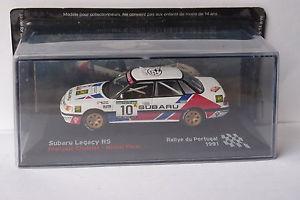 【送料無料】模型車 モデルカー スポーツカーネットワークスバルレガシィ#ラリーポルトガルixo altaya subaru legacy rs 10 rally portugal 1991 143