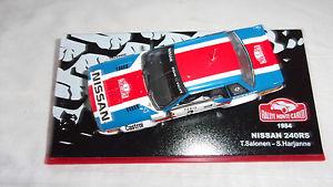 【送料無料】模型車 モデルカー スポーツカーラリーモンテカルロパイロットnissan 240 rs rally monte carlo 1984 t salonen pilot and s harjanne