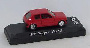 【送料無料】模型車 モデルカー スポーツカープジョーソリッドpeugeot 205 gti red 1508 143 solid