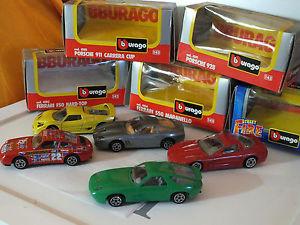 【送料無料】模型車 モデルカー スポーツカーイタリアモデル#;フェラーリボックスポルシェコルベットミントburago italy 5 models039;90 ferrari porsche corvette mint in box