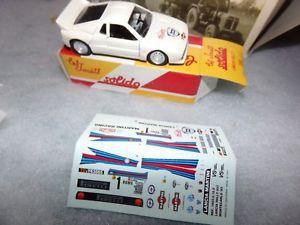 【送料無料】模型車 モデルカー スポーツカーランチアモンテカルロミニチュアコレクションlancia rallye montecarlo 1983 transparent paper car miniature 143 collection