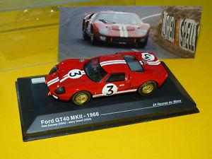 【送料無料】模型車 モデルカー スポーツカーフォードルマンネットワーク1966 ford gt40 mkii 24h du mans 143 ixoneuve en boite h