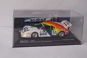 【送料無料】模型車 モデルカー スポーツカー#ルマンネットワークbmw m1 51 le mans 1981 ixo 143 d79