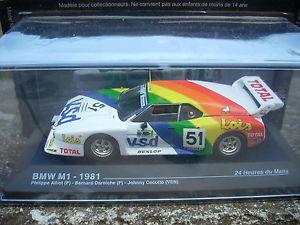 【送料無料】模型車 モデルカー スポーツカールマンスケールle mans bmw m11981 alliot darniche cecotto scale 1 43