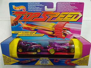 【送料無料】模型車 モデルカー スポーツカーホットセットhot wheelstop speedlauncher set 2 cars 12084 mattelvintage 1994