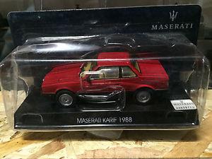 【送料無料】模型車 モデルカー スポーツカーマセラティマセラティマセラティマセラティアートmaserati 143 maserati karif 1988 red red art 50014