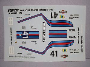 【送料無料】模型車 モデルカー スポーツカーポルシェマティーニスパークdecalcomanies porsche 9352 martini lm 1977 vroom 143 no spark