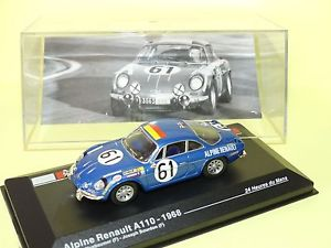 【送料無料】模型車 モデルカー スポーツカールノーアルパインルマンネットワークrenault alpine a110 61 le mans 1968 ixo 143 g43