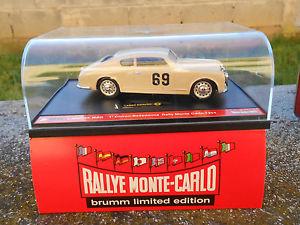 【送料無料】模型車 モデルカー スポーツカーランチアアウレリアクーペラリーモンテカルロスケールlancia aurelia b20 coupe039; rally montecarlo 1954 cats056 brumm 143 scale