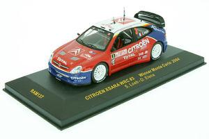 【送料無料】模型車 モデルカー スポーツカーラムシトロエンクサラローブラリーモンテカルロ143 ram 137 citroen xsara wrc loeb rally monte c 2004