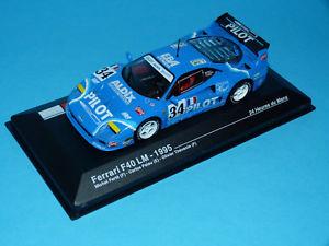 【送料無料】模型車 モデルカー スポーツカーフェラーリルマンルマンパイロットネットワークニューファウンドランドボックスオンferrari f40 lm 24h du mans 1995le manspilot 143 ixo foundlandc box