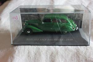 【送料無料】模型車 モデルカー スポーツカーミニチュアminiature vehicles no 143 berliet 11 cv dauphine 1939