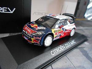 【送料無料】模型車 モデルカー スポーツカーシトロエンラリー#ローブレッドブルcitroen ds3 wrc rally deutschland winner 2012 1 loeb red bull norev sp 143