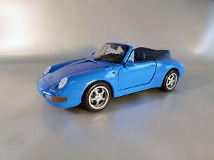 【送料無料】模型車 モデルカー スポーツカーポルシェカレラカブリオporsche 911 carrera cabrio 1994bluemaisto 118