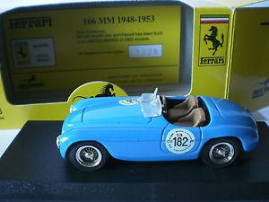 【送料無料】模型車 モデルカー スポーツカーアートモデルフェラーリミッレミリア#art model 143 ferrari 166 mm 19481953 mille miglia 1991 182