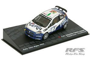 【送料無料】模型車 モデルカー スポーツカーフィアットアバルトグランデプントラリー143 fiat abarth grande punto s2000andreucci rally 1000 miglia 2006