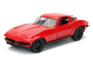 【送料無料】模型車 モデルカー スポーツカーモデルシボレーコレクターシリーズコルベットレッドfast furious model chevy corvette red by letty 132 collector series jada