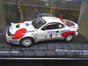 【送料無料】模型車 モデルカー スポーツカートヨタセリカターボラリーサイズ#レプソルサインツネットワークtoyota celica turbo 4wd rally size a 1992 4 repsol sainz ixo altaya 143