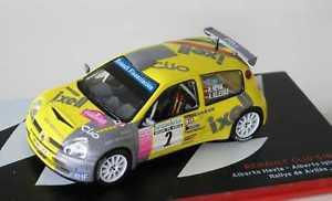 【送料無料】模型車 モデルカー スポーツカールノークリオラリーデアビレス143 renault clio s1600 hevia rallye de aviles 2004