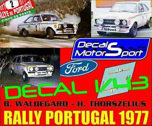 【送料無料】模型車 モデルカー スポーツカーフォードエスコートラリーポルトガルdecalque 143 ford escort b waldegardh thorszelius rally portugal 1977