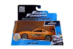 【送料無料】模型車 モデルカー スポーツカーモデルトヨタスープラブライアンオレンジオリジナルfast furious model toyota supra brian orange 132 original jada toys