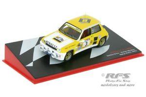 【送料無料】模型車 モデルカー スポーツカールノーターボラリーソルレースオルティスアルrenault 5 turbo rally sol race 1983ortizminguez 143 al 1983rm003e