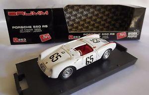 【送料無料】模型車 モデルカー スポーツカーポルシェ#ルマンオリビエbrumm 143 porsche 550 rs 1955 65 olivierjeser 24h le mans 1955 cod r263