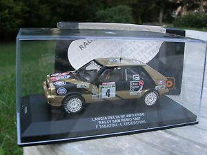 【送料無料】模型車 モデルカー スポーツカーネットワークランチアデルタエッソラリーサンレモixo 143 lancia delta hf metal 4wd esso rally san remo 1987