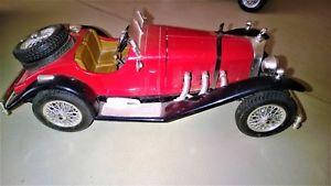 【送料無料】模型車 モデルカー スポーツカーメルセデスnice car mercedes ssk 118 red burago