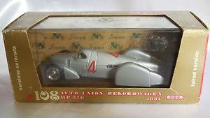 【送料無料】模型車 モデルカー スポーツカーオートユニオンバージョンコーン#143 brumm auto union rekordwagen hp 370 version cones 1937 4 r108