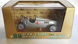 【送料無料】模型車 モデルカー スポーツカーオートユニオンタイプ#シリーズゴールド143 brumm auto union type c hp 520 1936 4 r38 series gold