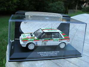 【送料無料】模型車 モデルカー スポーツカーネットワークランチアデルタラリーサンレモixo 143 lancia delta hf metal 4wd totip 1987 rally san remo