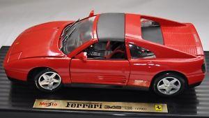 【送料無料】模型車 モデルカー スポーツカーフェラーリferrari 348 ts 1990maisto 118