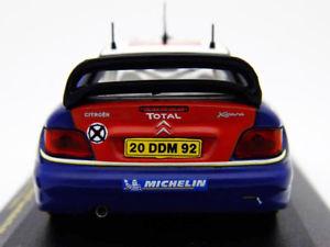 【送料無料】模型車 モデルカー スポーツカーシトロエンクサラ#ラリーネットワークcitroen xsara wrc 3 ganador sueco rally 2004 143 ixo