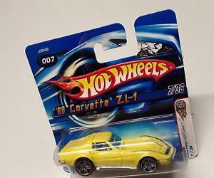 【送料無料】模型車 モデルカー スポーツカーホットホイールボックスコルベットhot wheels 69 corvette zl 1 738 in original box