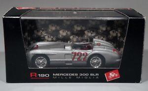 【送料無料】模型車 モデルカー スポーツカーメルセデスレフミッレミリアbrumm r190mercedes 300 slr mille miglia 1955 mossjenkinson 143 boxed
