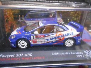 【送料無料】模型車 モデルカー スポーツカープジョー#ヘンリーラリーネットワークpeugeot 307 wrc 2 henry transalliance cevennes 2007 rally ixo altaya 143