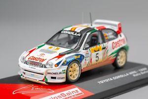 【送料無料】模型車 モデルカー スポーツカートヨタカローラ#モヤサファリラリーネットワークtoyota corolla wrc 5 sinzmoya retired safari rally 1998 ixoaltaya 143