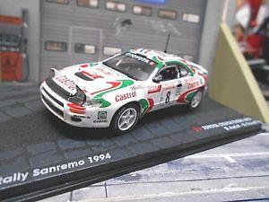 【送料無料】模型車 モデルカー スポーツカートヨタセリカターボグアテマララリーサンレモ#ネットワークアルタtoyota celica turbo 4wd gt4 rally san remo winner 1994 8 auriol ixo alta 143
