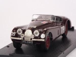 【送料無料】模型車 モデルカー スポーツカージャガークモミッレミリアクレメンテjaguar xk120 spider mille miglia 1950clemente 143 brumm r103