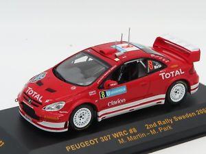 【送料無料】模型車 モデルカー スポーツカーネットワークモデルプジョー#ラリースウェーデンixo models ram183 peugeot 307 wrc 8 rally sweden 2005 143